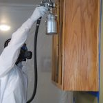 Cabinet paint sprayer