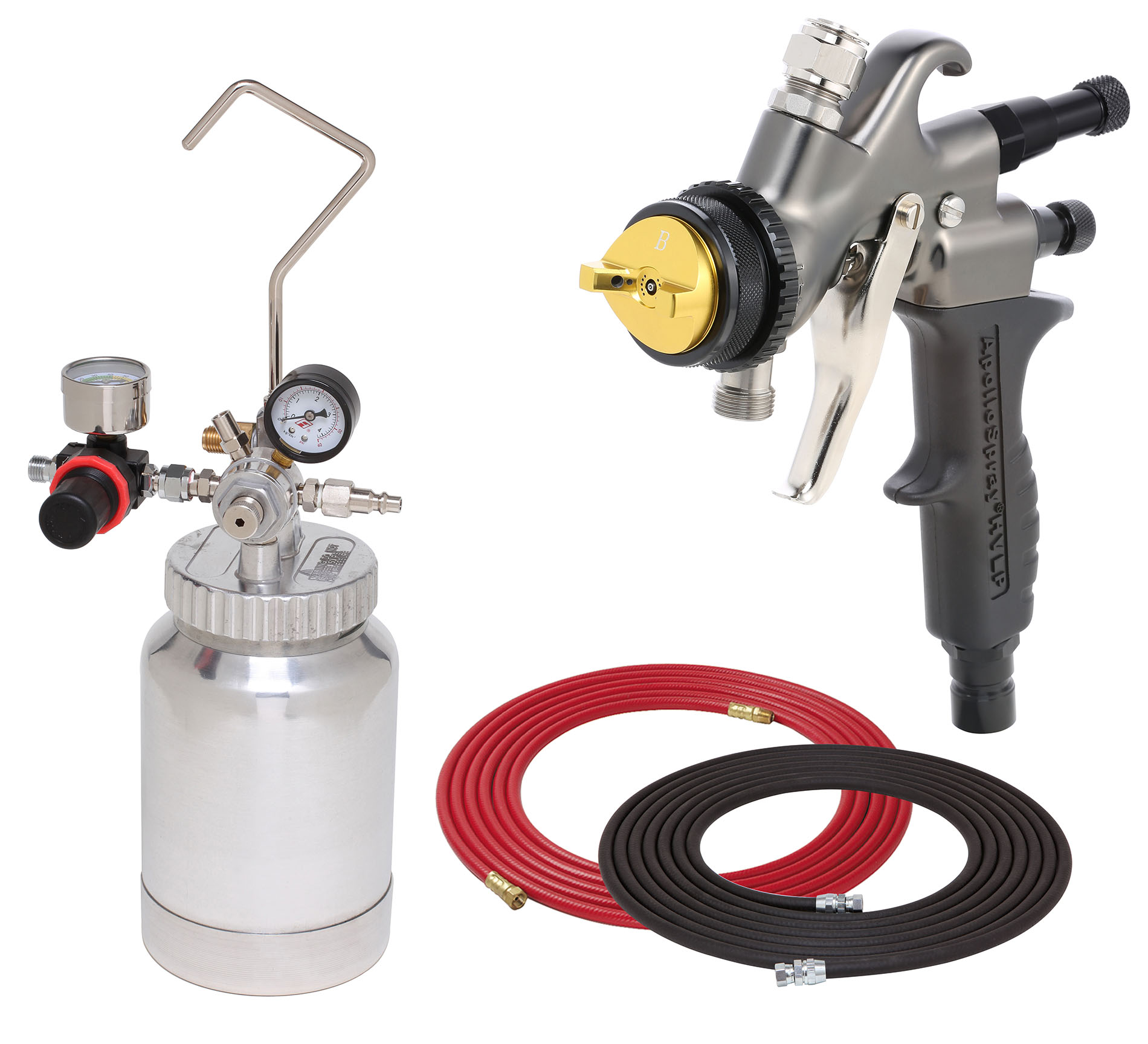 2 Quart Combo Package with the 7700C Sprayer Gun
