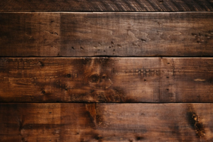 Wood stained to dark